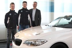 Ricky Collard and Nico Menzel with Jens Marquardt, BMW Motorsport Director