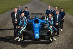 Team Renault e.Dams with Nicolas Prost, Sébastien Buemi and Alain Prost