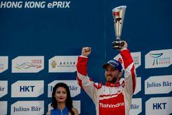 Podium: troisième place Nick Heidfeld, Mahindra Racing