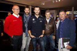 Harry Unflat, Audi Sport Team Abt Sportsline; Martin Tomczyk, BMW Team Schnitzer, BMW M4 DTM; Norbert Haug,, ARD; Tom Kristensen, Le-Mans-Rekordsieger