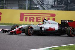 Esteban Gutiérrez, Haas F1 Team VF-16 se recupera después de su giro
