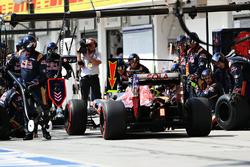 Daniil Kvyat, Scuderia Toro Rosso STR11 s'arrête aux stands