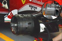 Comparaison des freins avant de la Ferrari SF16-H