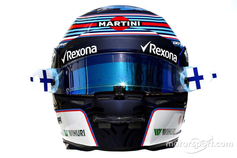 Le casque de Valtteri Bottas, Williams