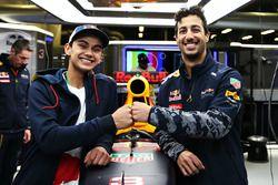 Daniel Ricciardo, Red Bull Racing and Luis Leeds, Red Bull Racing Junior Driver