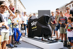 Atmosphere before the Sky Racing Team VR46 bike livery unveil