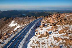 Schnee über Nacht am Gipfel