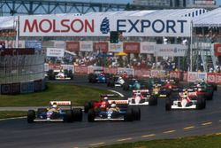Start zum GP Kanada 1991 in Montreal: Nigel Mansell, Williams FW14, führt