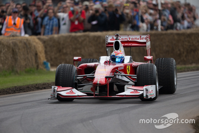 Ferrari F10 - Marc Gene at Goodwood Festival of Speed - Vintage Photos