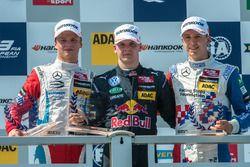 Podium, Rookie, Ralf Aron, Prema Powerteam Dallara F312 - Mercedes-Benz, Niko Kari, Motopark Dallara