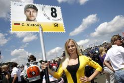 Gridgirl für Christian Vietoris, Mercedes-AMG Team Mücke, Mercedes-AMG C63 DTM