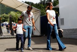 Felipe Massa, Williams avec son fils Felipinho Massa, et sa femme Rafaela Bassi