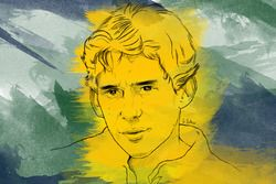 Porträt von Ayrton Senna