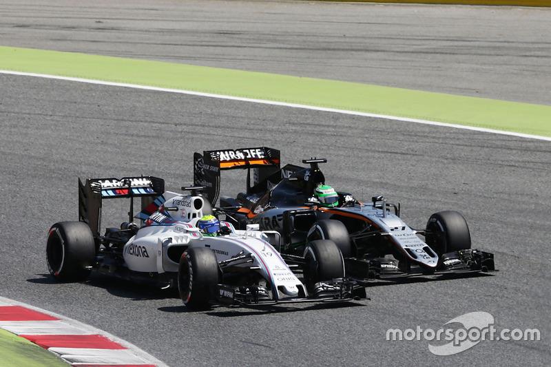 Felipe Massa fez boa prova de recuperação e, saindo da 18ª posição, terminou em oitavo.