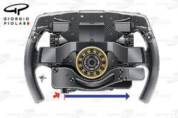 Ferrari SF16H steering wheel, captioned