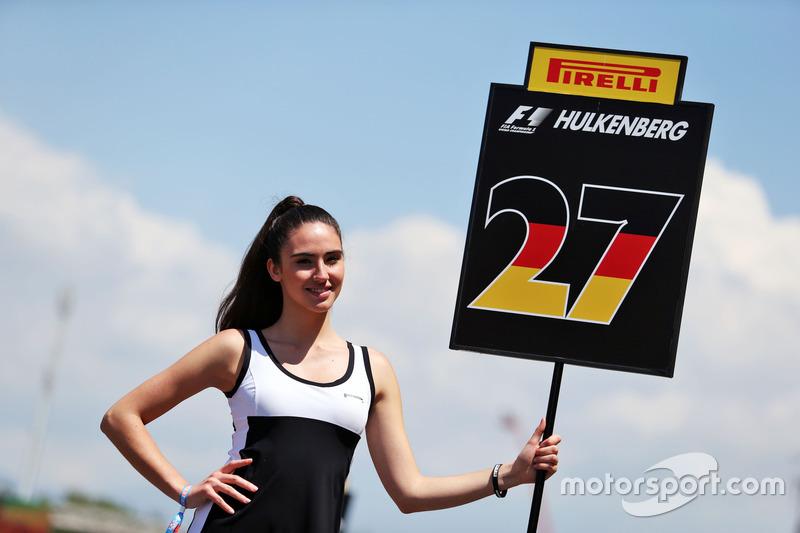 Chica de la parrilla de Nico Hulkenberg, Sahara Force India F1