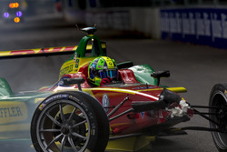 Crash Lucas di Grassi, ABT Schaeffler Audi Sport