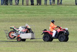 Мотоцикл после аварии: Альваро Баутиста, Aprilia Racing Team Gresini