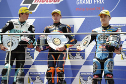 Podium: race winner Brad Binder, Red Bull KTM Ajo, second place Andrea Locatelli, Leopard Racing, th