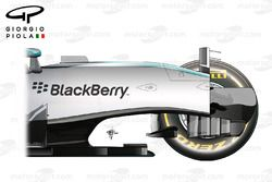 Mercedes W07 chassis, side view