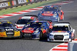 Sébastien Loeb, Team Peugeot Hansen en Mattias Ekström, EKS RX