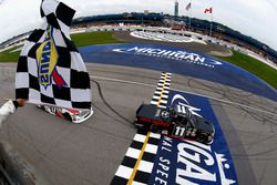 Brett Moffitt, Red Horse Racing Toyota takes the checkered flag