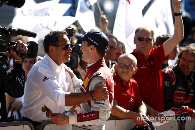 Mattias Ekström, Audi Sport Team Abt Sportsline, Audi A5 DTM with Hans-Jürgen Abt, Teamchef Abt-Audi