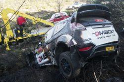 أثار الحريق على سيارة أوت تاناك ورايغو مولدر، فريق ديماك العالمي للراليات