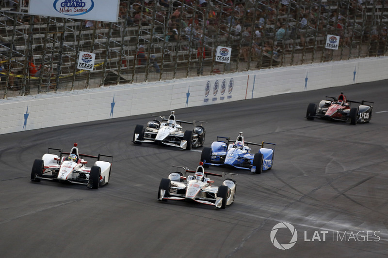 Will Power, Team Penske Chevrolet, Tristan Vautier, Dale Coyne Racing Honda