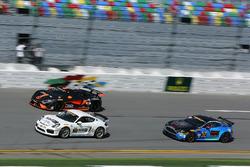 #21 Muehlner Motorsports America, Porsche Cayman GT4: Kyle Marcelli, Cameron Lawrence; #77 Compass36