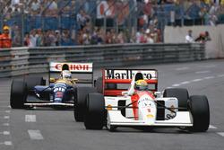 Айртон Сенна, McLaren MP4/7A, и Найджел Мэнселл, Williams FW14B