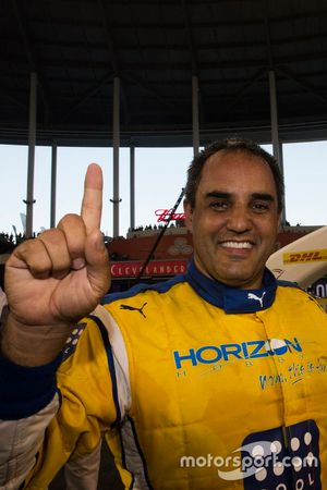 Champion of Champions Juan Pablo Montoya, celebrates his win