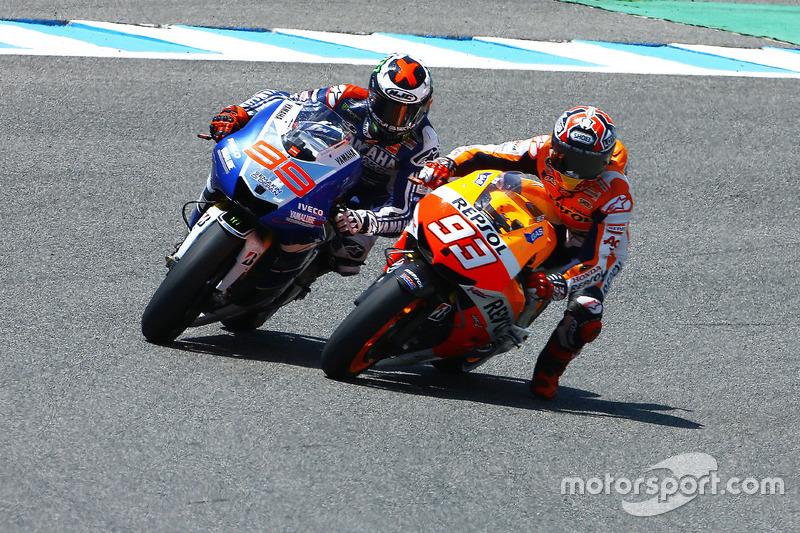 Marc Marquez, Repsol Hond e Jorge Lorenzo, Yamaha