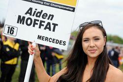 Grid girl, Aiden Moffat, Laser Tools Racing Mercedes Benz A-Class