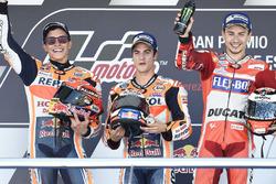 Podium: Race winner Dani Pedrosa, Repsol Honda Team, second place Marc Marquez, Repsol Honda Team, t