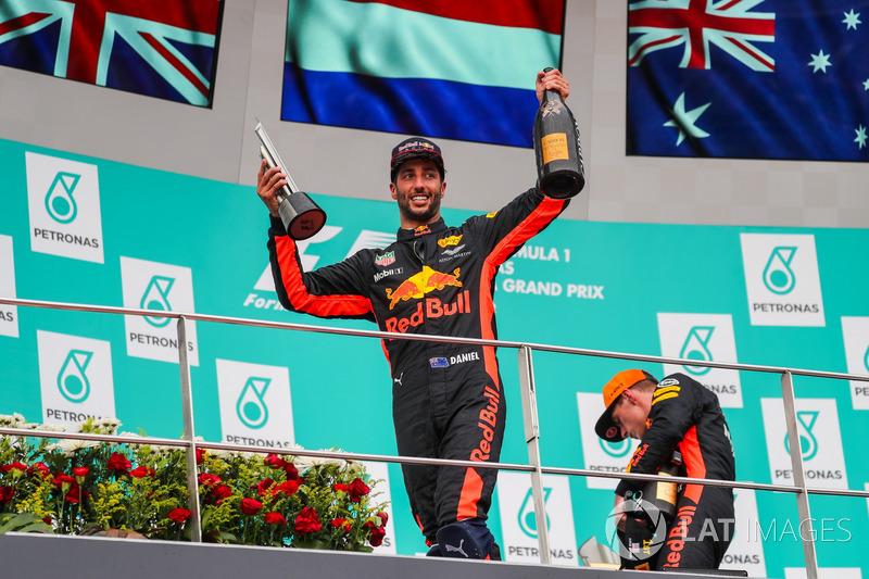 Daniel Ricciardo, Red Bull Racing festeggia sul podio