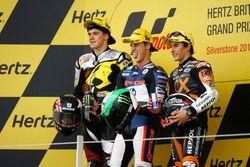 Podium : deuxième place pour Scott Redding, victoire pour Pol Espargaro, troisième place pour Marc Marquez