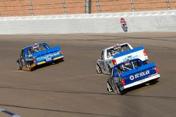 Chase Briscoe, Brad Keselowski Racing Ford, Johnny Sauter, GMS Racing Chevrolet and Christopher Bell