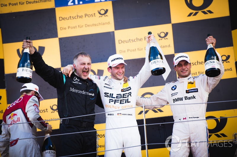 1. Maro Engel, Mercedes-AMG Team HWA, Mercedes-AMG C63 DTM; 3. Bruno Spengler, BMW Team RBM, BMW M4
