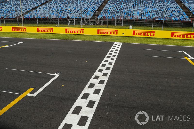 Circuito Ungheria : Line di partenza arrivo vista del circuito a gp dungheria