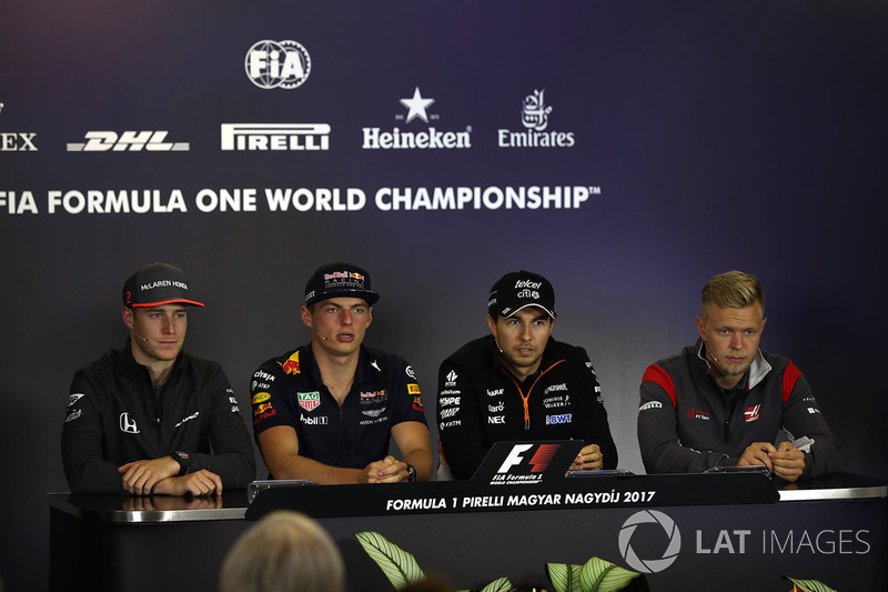 Стофель Вандорн, McLaren, Макс Ферстаппен, Red Bull Racing, Серхіо Перес, Force India, Кевін Магнусс