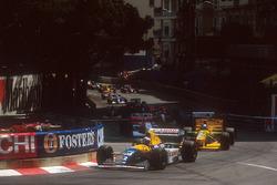 Start zum GP Monaco 1993 in Monte Carlo: Alain Prost, Williams FW15C, führt
