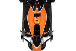 Le centre de la McLaren MCL32 vu de haut