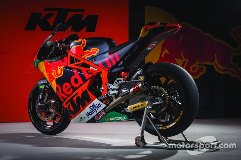 La moto di the Red Bull KTM Ajo Team