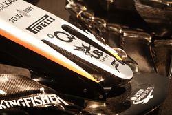 Sahara Force India VJM10, detalle de la nariz