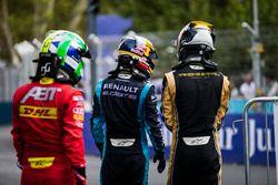 Lucas di Grassi, ABT Schaeffler Audi Sport; Sébastien Buemi, Renault e.Dams; Jean-Eric Vergne, Teche