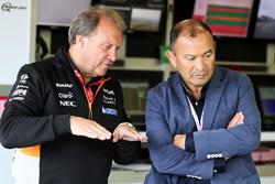 Robert Fernley, Sahara Force India F1 Deputy Team Principal,  Eddie Jones, England Rugby Union Team Head Coach