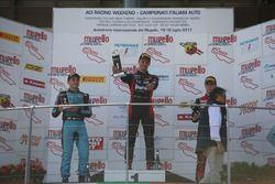 Podio Rookie Gara 2: il primo classificato Leonardo Lorandi, Baithech; il secondo classificato Giorg