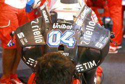 Neue Verkleidung am Bike von Andrea Dovizioso, Ducati Team