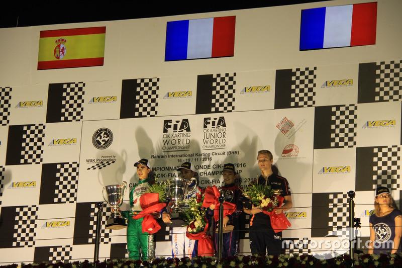 Podio de la categoría OK Junior del CIK FIA World Championship
